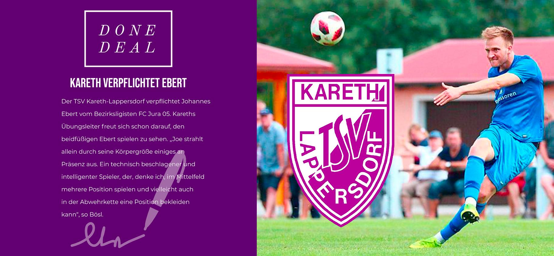 Kareth verpflichtet Johannes Ebert